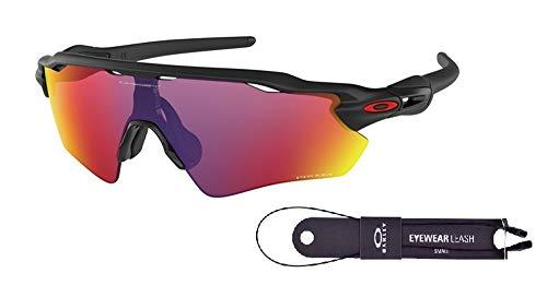 Oakley Radar EV Path OO9208 920846 38M Matte Black/Prizm Road Sunglasses For Men+BUNDLE with Oakley Accessory Leash Kit (Oakley Radar Ev Prizm)