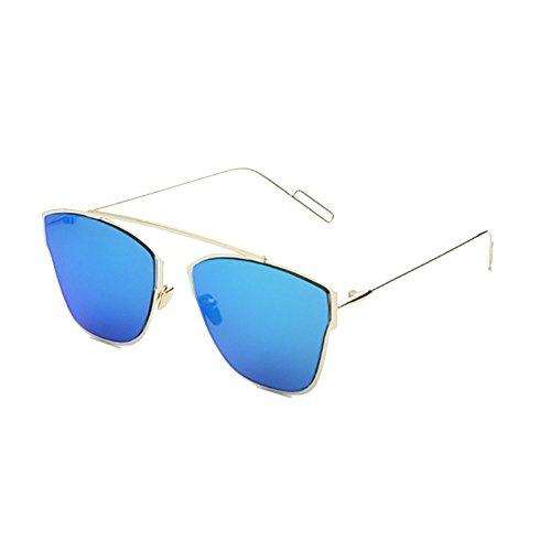 Sinkfish SG80058 Sunglasses for Womenfashion Non-Polarizer - UV400/Beige Frames/Blue - Chromehearts Sunglasses