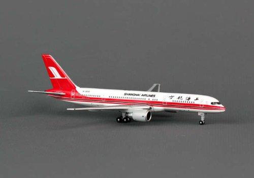 B757 Plane - PH4CSH812 Phoenix Shanghai Airlines B757-200 Model Airplane