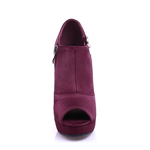 Adee - Sandalias de vestir para mujer Vino Rojo
