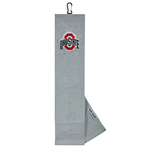 Team Effort Ohio State Buckeye Face/Club Embroidered Towel