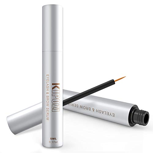 KIPOZI Eyelash Growth Serum Lashes and Brows Enhancer Serum Achieve Longer Fuller And Thicker Looking, 5ml
