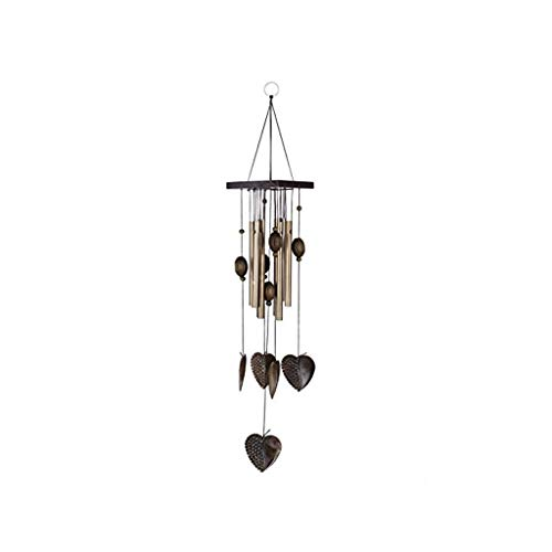 NszzJixo9 Tubular Wind Chime - Heart Metal Decorative Garden Family Wind Chime Furniture for Patio, Lawn, Garden, and Terrace - Musical Wind Chime Outdoor Home Decoration (D) (Furniture Patio Me Repair Near)