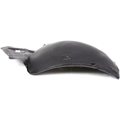 Splash Shield Front Left Side Fender Liner Plastic Front Section for G37 08-13/Q60 14-15 Convertible/Coupe