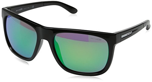 Arnette Fire Drill Round Sunglasses,Gloss Black/Citrus Chrome,55 mm