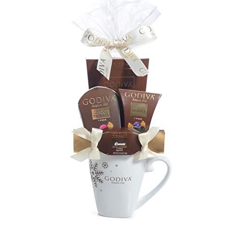 Milliard Godiva Mug Chocolate Gift Set -2019 Christmas & New Years Holiday Season – With Product Protective Packaging.