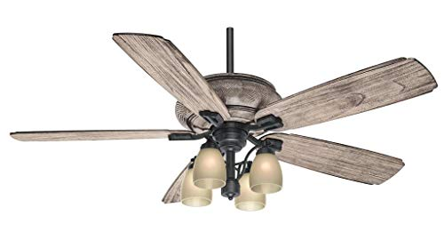 - Casablanca 55052 Heathridge 60-Inch Tahoe Ceiling Fan with River Timber Non-Reversible Blades and Four Light Kit