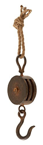 Pulley Use Block (Deco 79 Metal Rope Block Tackle, 15 by 4-Inch)