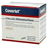"""Coverlet Knuckle Fabric Adhesive Bandages 1 1/2"""" x 3"""" (Box of 100)"""