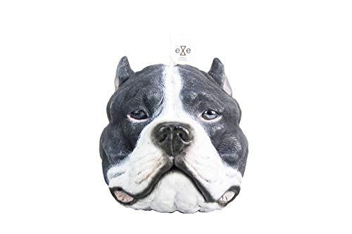 (Eye Candle Studio Handmade Novelty Candle Staffordshire Bull Terrier Dog Pit bul Inlaid Glass Eyes Series Black/White)