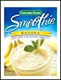 Concord Foods Banana Smoothie Mix 2 oz Pouch (VALUE Pack of 18 Pouches)