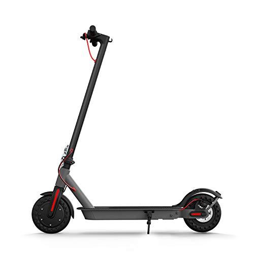 Hiboy Patinete Eléctrico S2 – Neumáticos sólidos de 8.5″ – hasta 25 KM de Largo Alcance y 25 KM/H Scooter portátil Plegable para Adultos con Doble Sistema de frenado y aplicación