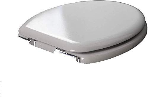 S-優雅な便座木製のトイレ蓋、上部固定超抵抗性の厚い便座カバー、V/U/O形状ユニバーサル、白-42〜47cm * 37cm用浴室蓋