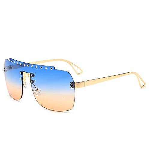 de américaine frameless soleil gradient A tendance NIFG européenne de mode monobloc et Lunettes soleil diamond lunettes qHxOwB