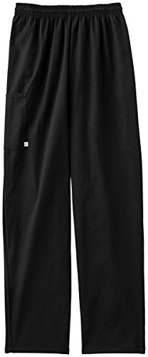 Five Star 18100 Unisex Pull-On Baggy Pant (Black, X-Large) - Unisex Kitchen
