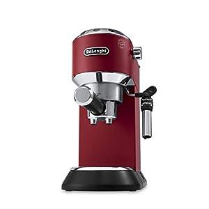 De'Longhi Dedica EC685.R Macchina da Caffè Espresso Manuale e Cappuccino, Caffè in Polvere o in Cialde E.S.E., 1350 W, Rosso