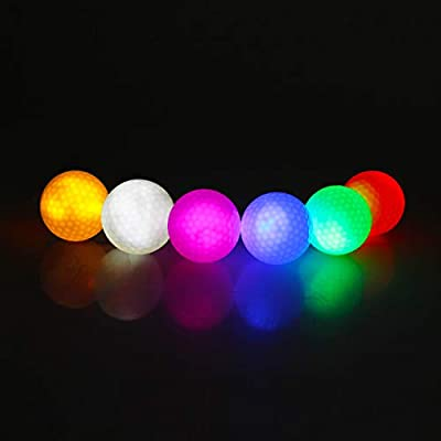 kofull Pack de 6 Bolas de Golf LED para Entrenamiento Nocturno ...