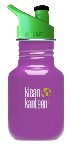Klean Kanteen Kid's Stainless Steel Bottle with 3.0 Sport Cap (Prevention Purple, 12-Ounce)