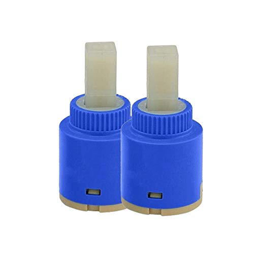 (Wovier Replacement Single Handle Faucet Cartridge Ceramic Disc Valve 25mm Diameter (2 Pcs))