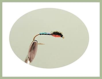 Buzzer Flies for fly fishing 6 Pack Orange Buzzers Choice of sizes Trout fly