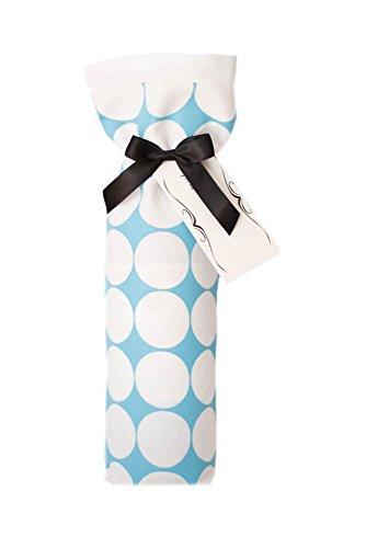Dots Tea Towel - Upper Lake Home Goods Aqua Blue & White Polka Dots Design Decorative Tea Towel Bottle Wrap