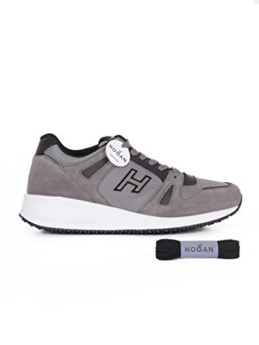 Hogan Hombre HXM2460U870CUU2C05 Gris Gamuza Zapatillas