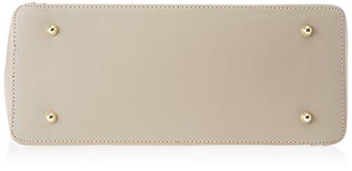 Chicca Borse 8610, Borsa a Spalla Donna, 40x38x14 cm (W x H x L) Beige (Taupe)
