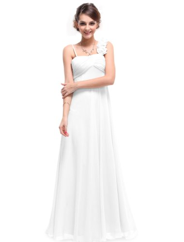 HE09766WH12, White, 10US, Ever Pretty Soft Women Spring Evening Gowns 09766