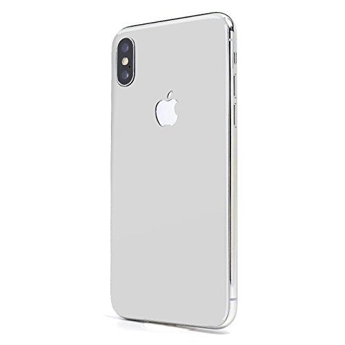 Arctic White Glass - Arctic White Gloss SKINTZ Glass Protection Skin Wrap Compatible with iPhone X and iPhone Xs (5.8