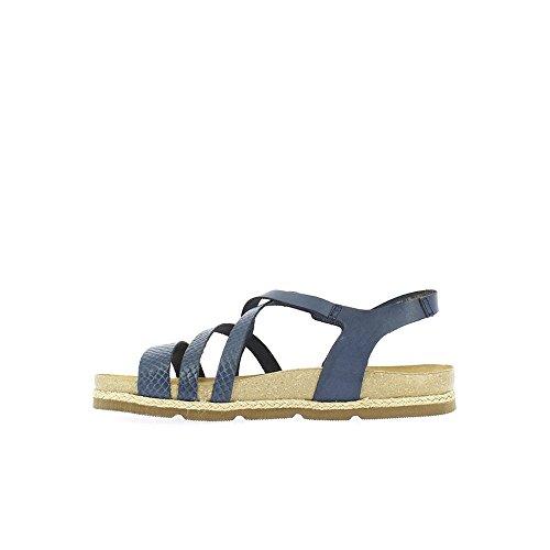 Yokono Women's Chipre Vaquetilla Sandals, Red Blue (Marino 006)