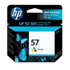 HP 57 Ink Cartridge, 500 Page Yield, Tri-Color