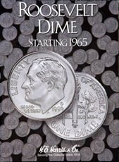 Coin Folder Book Roosevelt Dime Starting 1965 H.E Harris