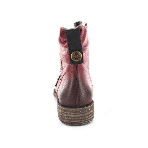 Rieker Mujeres botines rojo, (wine/mogano) 74748-35
