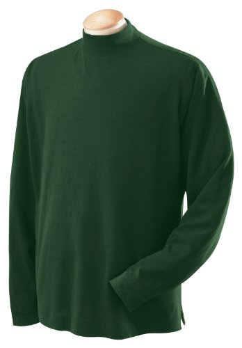 (Devon & Jones Sueded Men's Mock Turtleneck Jersey, Forest, XXX-Large)