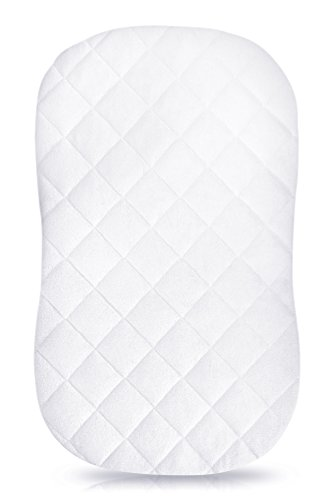 iLuvBamboo Waterproof Bassinet Cover to Fit Hourglass Swivel Sleeper Mattress Pad - Machine & Dryer Friendly - Secure Envelope Design - Silky Soft Bamboo Mattress Protector