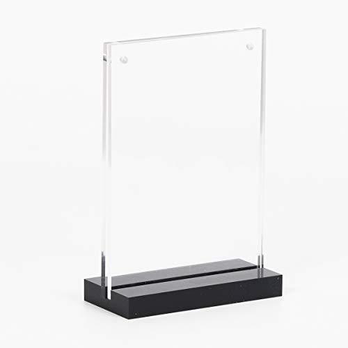 Acrylic Magnetic Desktop Display Rack Sign Holder Menu Holder Billboards Exhibition Stand (Vetical 4x6)