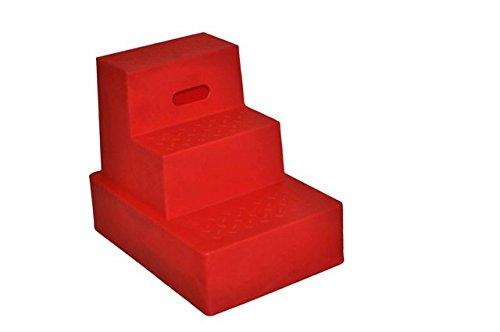 Aufstiegshilfe mit 3 Stufen. Rot