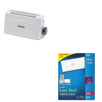 KITAVE5160PREP6400 - Value Kit - Martin Yale Model P6400 Desktop Paper Folder (PREP6400) and Avery Easy Peel Laser Address Labels - Desktop Martin P6400 Yale