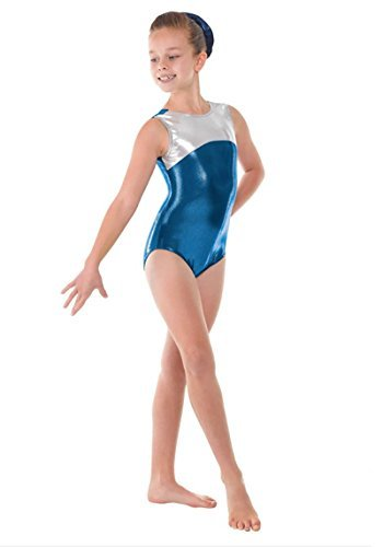 Tappers and Pointers Girls Gymnastic Sleeveless Leotard - Shine GYM11 - size 2 age 9-10 yrs by Tappers & Pointers by Tappers & Pointers