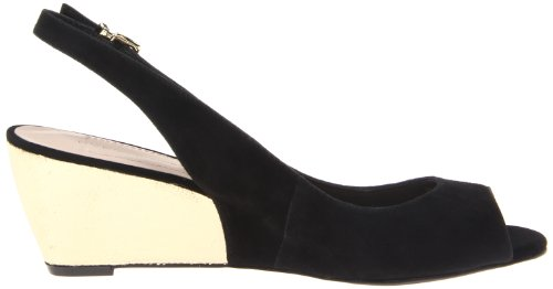 Bcbgeneration Mujeres Trysta Wedge Sandal Black / Gold
