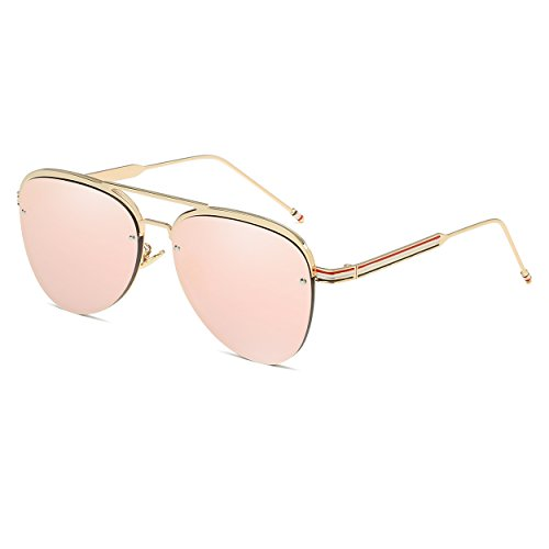CVOO New Aviator Sunglasses Women Mirror Driving Men Luxury Brand Sunglasses Points Sun Glasses Shades Femme - Glas Sun