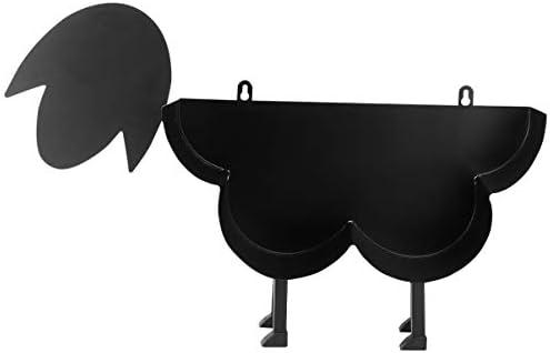 UPKOCH Servethouder metalen schaap decoratief figuur ornament rolhouder papierhouder keukenrolhouder servettenstandaard voor keuken Kerstmis Nieuwjaar oudejaarsavond party tafeldecoratie zwart