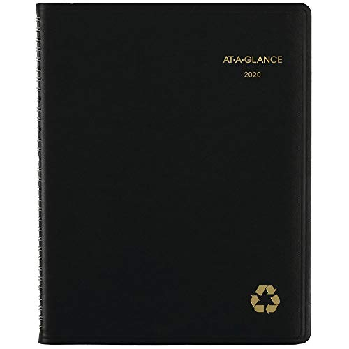 Recycled Weekly - AT-A-GLANCE 2020 Weekly & Monthly Planner/Appointment Book, 8-1/4