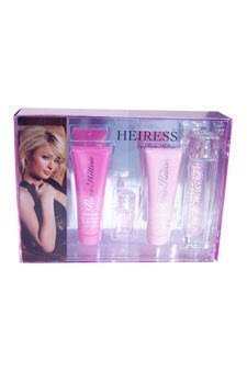 HEIRESS PARIS HILTON by Paris Hilton SET-EAU DE PARFUM SPRAY 3.4 OZ & BODY LOTION 3 OZ & SHOWER GEL 3 OZ & EAU DE PARFUM SPRAY .25 OZ for Women (Wash Hilton Body Paris)