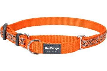 Red Dingo Designer Martingale Dog Collar, Medium, Snake Eyes