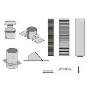 Empire Comfort Systems DVVK4FV Vertical Fireplace Direct Vent Kit for Tahoe Fire -
