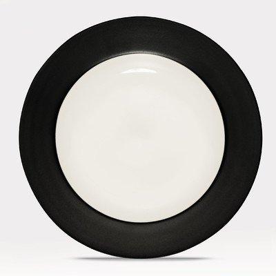 Noritake Colorware Graphite Rim Salad Plate Colorwave Raspberry Dinner Plate