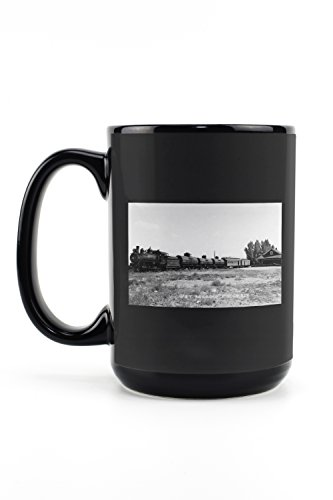 Minden, Nevada - View of the Virginia and Truckee Railroad Train (15oz Black Ceramic Mug - Dishwasher and Microwave ()