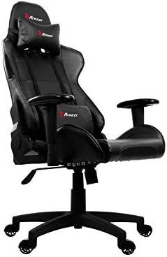 Arozzi Verona V2 Advanced Racing Style Gaming Chair with High Backrest, Recliner, Swivel, Tilt, Rocker and Seat Height Adjustment, Lumbar and Headrest Pillows Included, Black 31 2BlmnLJeSL