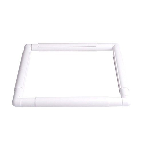 Quilt Wood Hoop - ZKer Square Embroidery Hoop, Plastic Cross Stitch Frame White Cross Stitching Frame Sewing Hoop Handhold Craft Clip Frame Embroidery Snap Frame Hoop DIY Sewing Tools for Cross Stitching Quilting